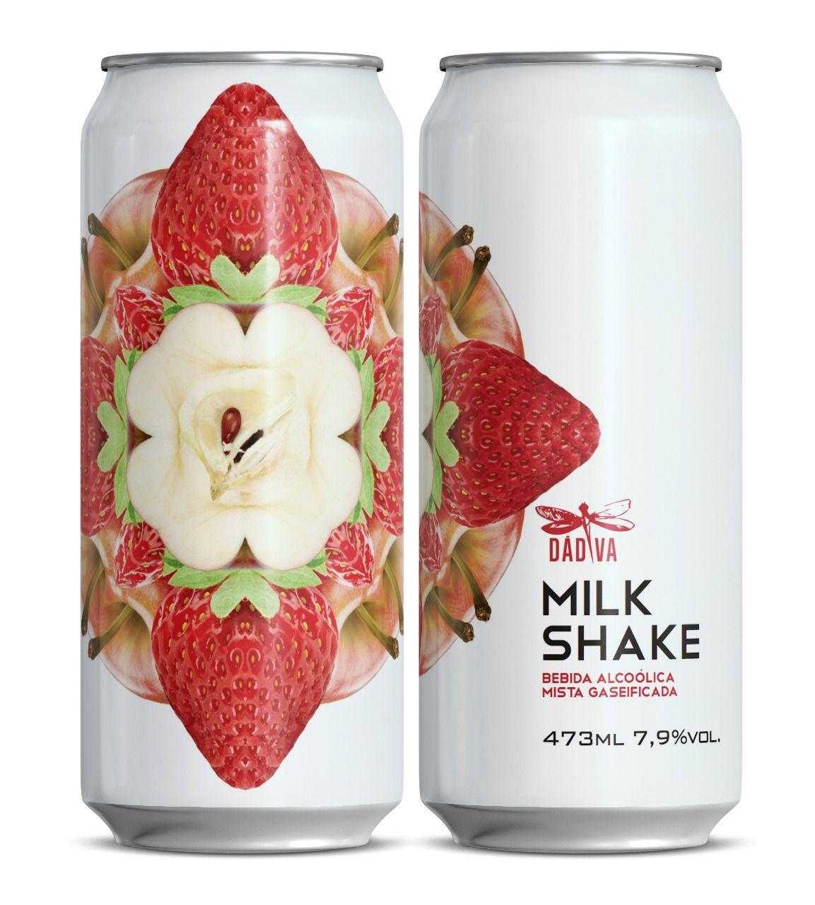 Dádiva Milkshake Morango e Maçã Lata 473ml DIPA