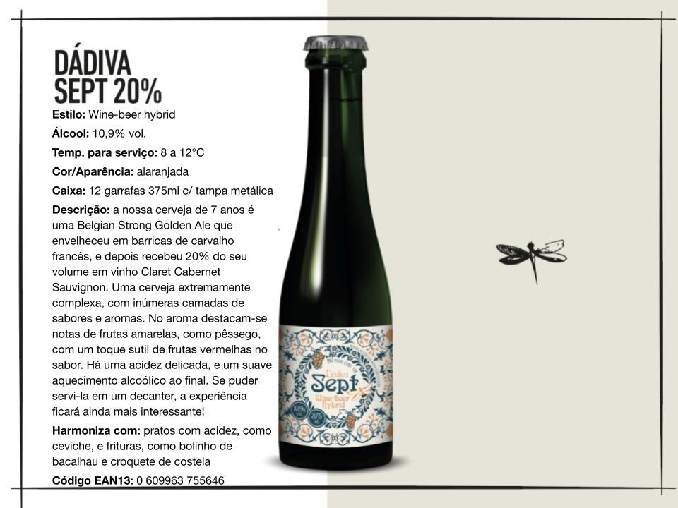 Dádiva Sept 20% - Belgian Strong Golden Ale - 375ml