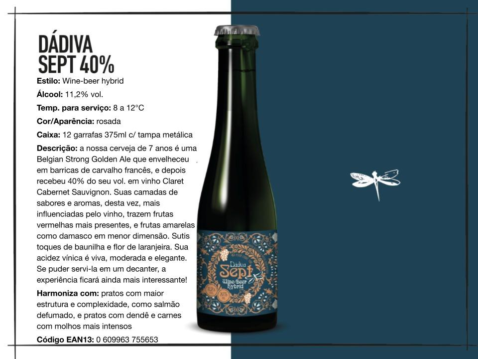 Dádiva Sept 40% - Belgian Strong Golden Ale - 375ml