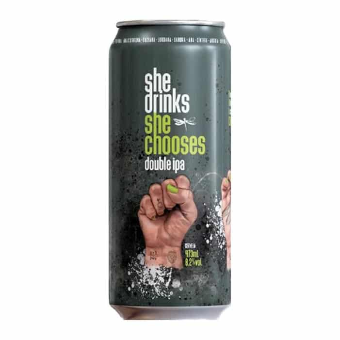 Dadiva She Drinks She Chooses - Lata 473ml - Double Ipa