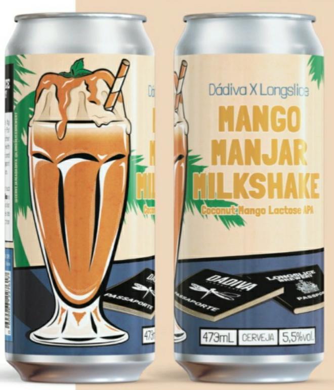 Dádiva x Longslice Mango Manjar Milkshake Lata 473ml - Coconut Mango Lactose APA