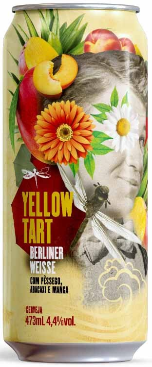 Dadiva Yellow Tart Lata 473ml Berliner Weisse com Pêssego, Abacaxi e Manga
