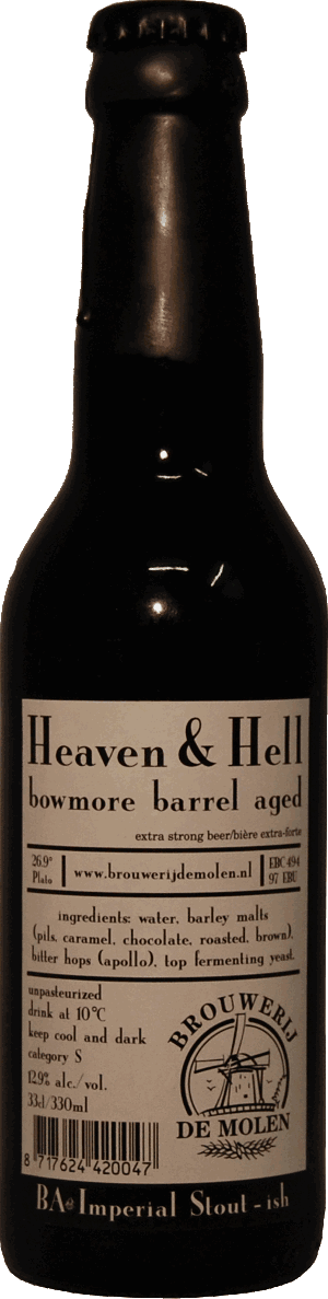 De Molen Heaven & Hell Barrel Aged  330ml RIS Bowmore BA
