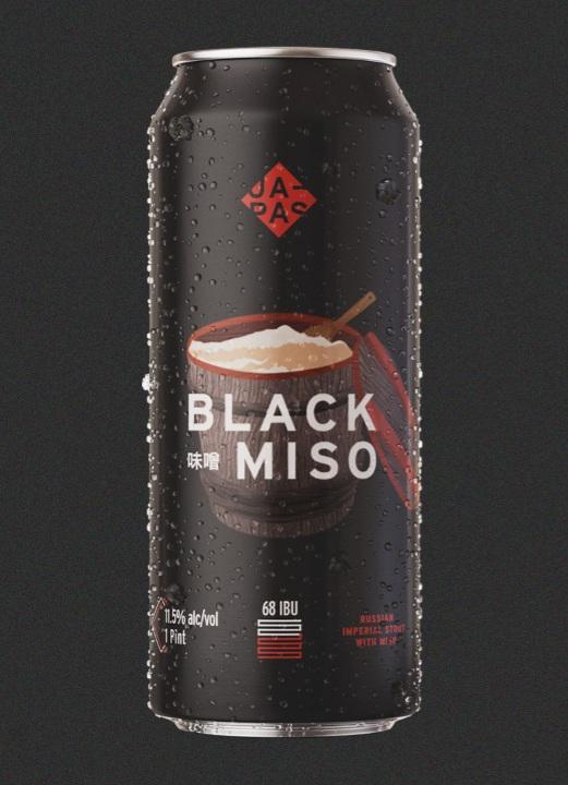 Japas Black Miso Lata 473ml - Russian Imperial Stout com Missô
