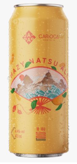Japas / Carioca Brewing Hazy Natsu Ale Lata 473ml New England Summer Ale com Ponkan  e Hortelã