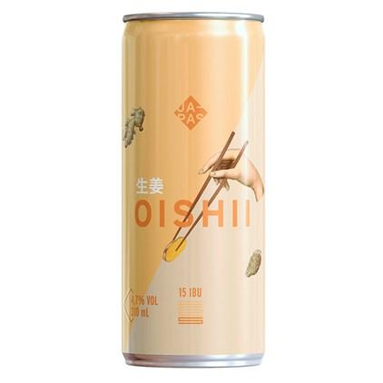 Japas Oishii Lata 310ml - Witbier com gengibre e casca de laranja