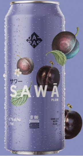 Japas Sawã Plum Lata 473ml Sour com Ameixa