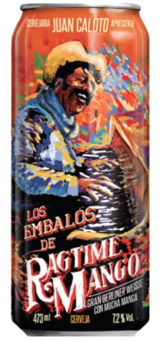 Juan Caloto Los Embalos de Ragtime Mango Lata 473ml Berliner Weisse com Manga