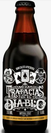 Juan Caloto No Hay Trapacias Con El Diablo 310ml RIS c/ Carvalho e Café Em Barris de Bourbon