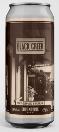 Locomotive Brew Black Creek Coco Queimado e Baunilha Lata 473ml American Stout