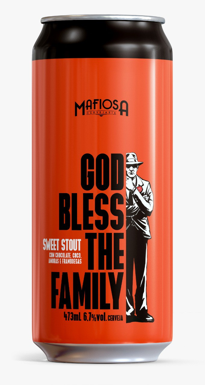Mafiosa God Bless The Family 473ml Sweet Stout