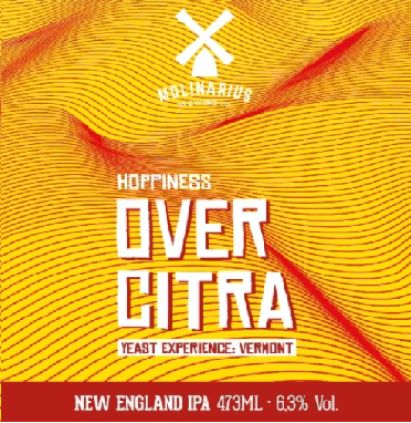 Molinarius Hoppiness Over Citra Yeast Experience Vermont Lata 473ml