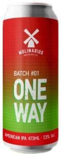 Molinarius One Way IPA  Batch #01 Lata 473ml