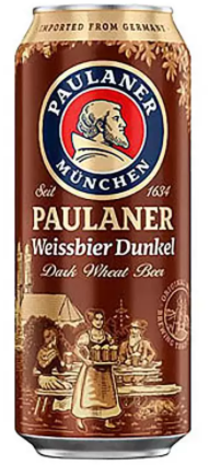 Paulaner Weissbier Dunkel Lata 500ml