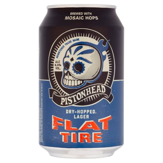Pistonhead Flat Tire Lata 330ml Caixa com 24 Unidades Dry-Hopped Lager