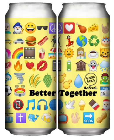 Quatro Graus Better Together Lata 473ml India Pale Ale/Lager