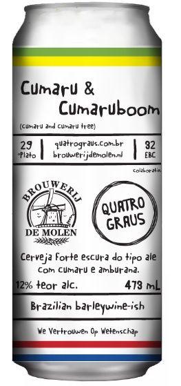 Quatro Graus / De Molen Cumaru & Cumaruboom Lata 473ml Barley Wine
