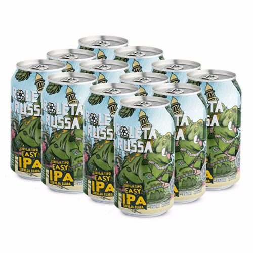 Roleta Russa Pack Easy IPA 350ml Pack com12 Latas
