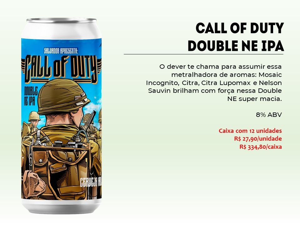 Salvador Call Of Duty - Lata 473ml - Double New England Ipa