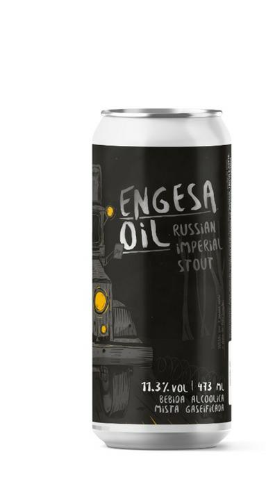 Salvador Engesa Oil Lata 473ml - Russian Imperial Stout