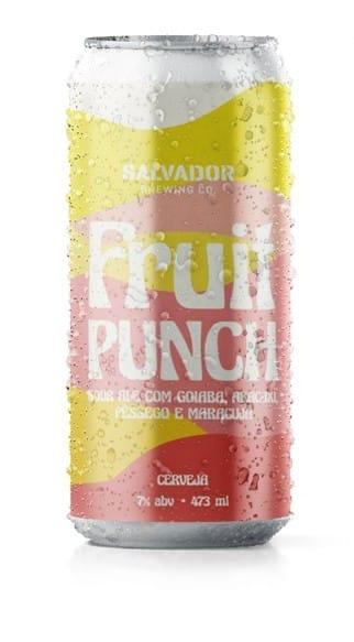 salvador Fruit Punch Lata 473ml Sour Ale com Goiaba, Abacaxi, Pêssego e Maracujá