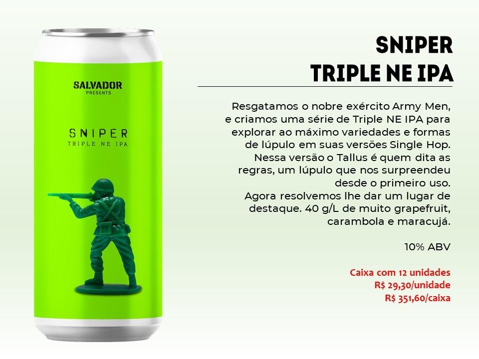 Salvador Sniper - Lata 473ml - Triple New England Ipa