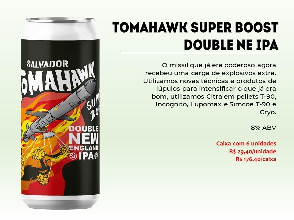 Salvador Tomahawk Super Boost - Lata 473ml - Double New England Ipa