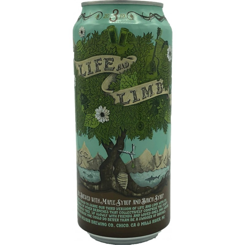 Sierra Nevada/Dogfish Head Life and Limb - Lata 473ml - Strong Ale com Maple Syrup