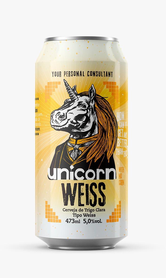 StartUp Unicorn Weiss Lata 473ml