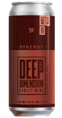 Synergy Deep Dimension 2020 Com Coco Maple e Nozes Lata 473 barley wine