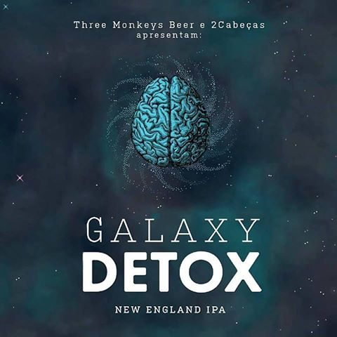 Three Monkeys / 2Cabeças Galaxy Detox Lata 473ml NE IPA