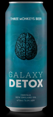 Three Monkeys Galaxy Detox New England IPA Lata 473ml
