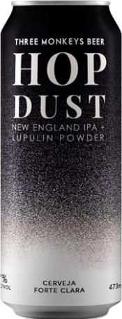 Three Monkeys Hop Dust New England IPA+Lupulin PowderLata 473ml