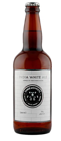 Three Monkeys India White Ale 500ml