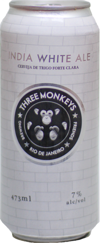 Three Monkeys India White Ale Lata 473ml