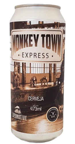 Three Monkeys / Locomotive Monkey Town Express Lata 473ml Triple IPA