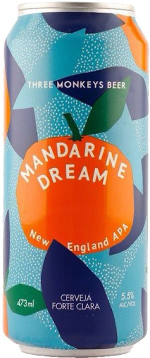 Three Monkeys Mandarine Dream Lata 473ml NE IPA