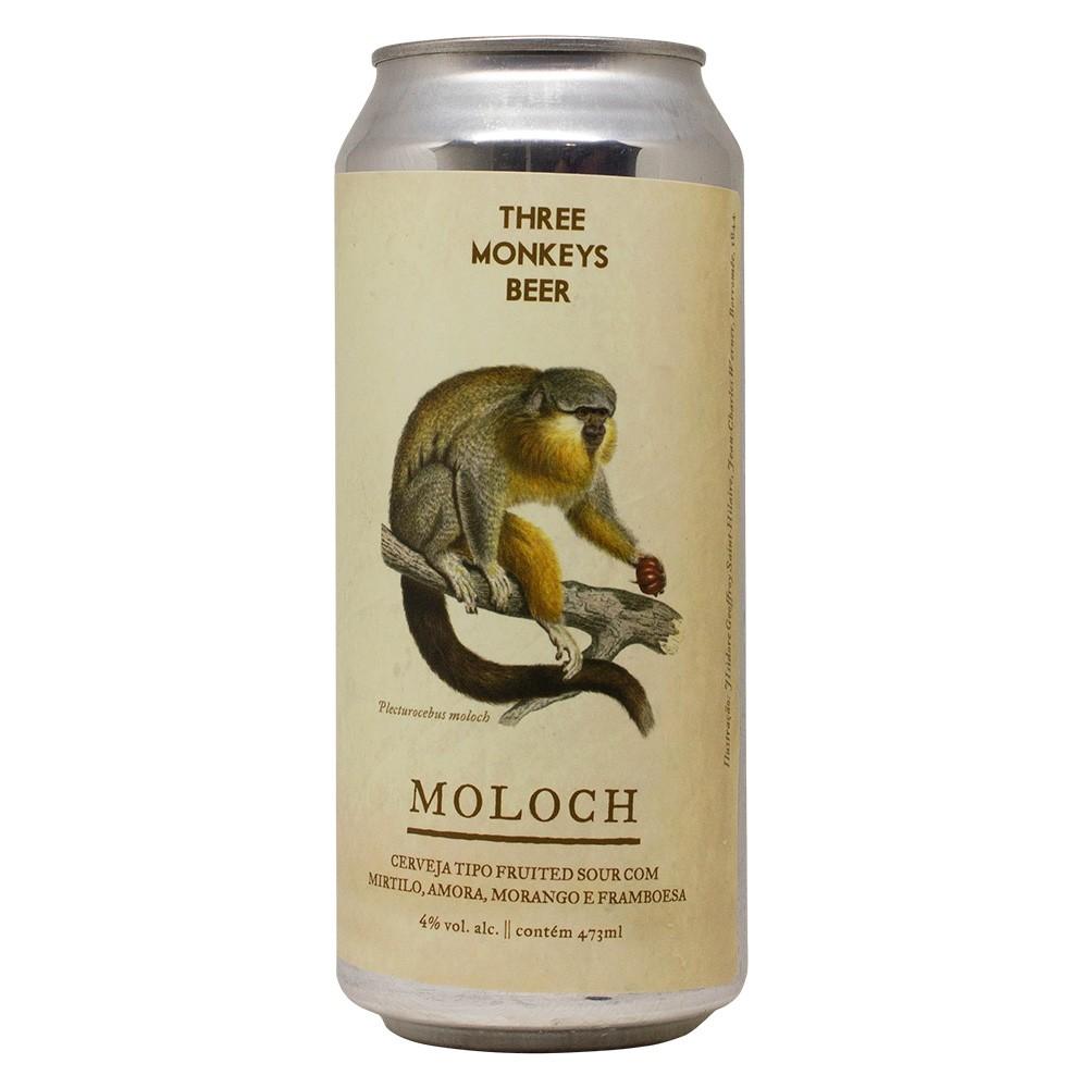 Three Monkeys Moloch 473ml Fruited Sour com Mirtilo, Amora, Morango e Framboesa