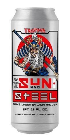 Trooper Iron Maiden Sun and Steel Sake Lager Lata 500ml