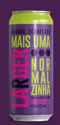 Urbana / 2 Cabeças Mais Uma Lager Normalzinha Lata 473ml Double Pilsner