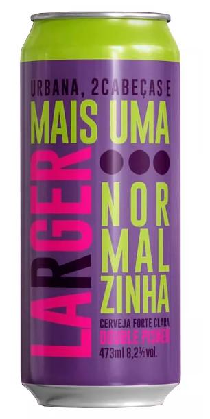 Urbana / 2 Cabeças Mais Uma Lager Normalzinha Lata 473ml Validade 30/08/2018
