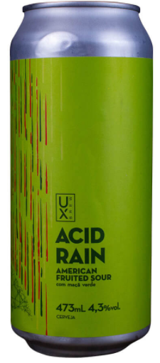 Ux Brew Acid Rain Maça Verde Lata 473ml American Fruited Sour
