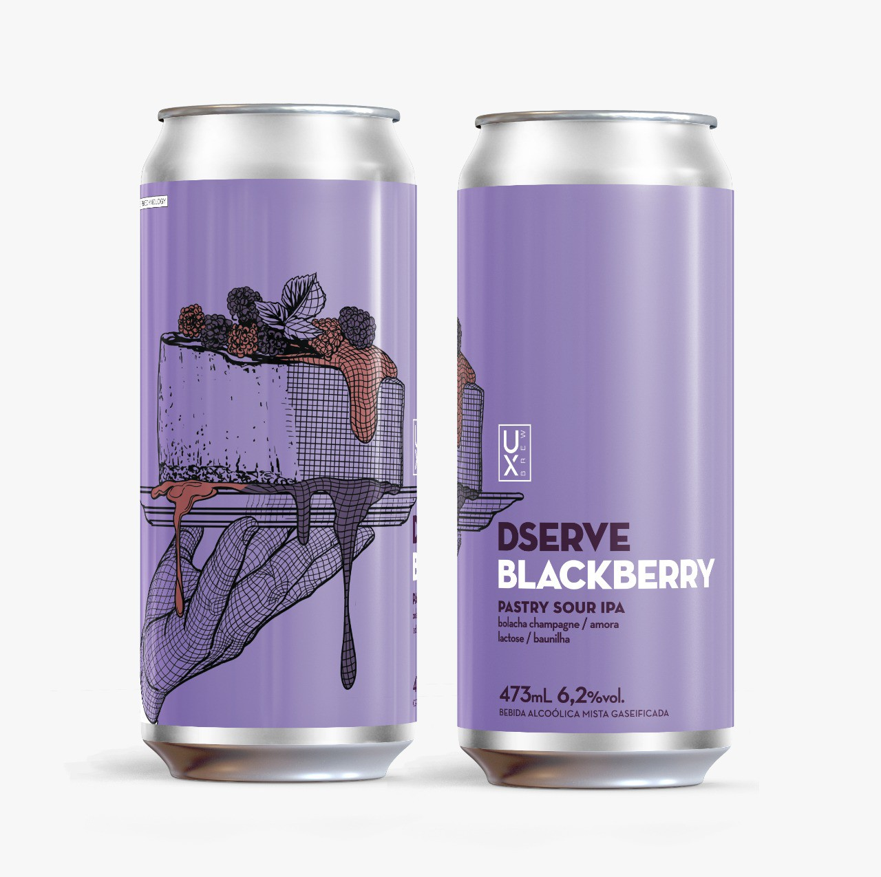 UX Brew Dserve Blackberry Pastry Sour Ipa lata 473ml