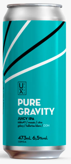 Ux Brew Pure Gravity Lata 473ml Juicy IPA