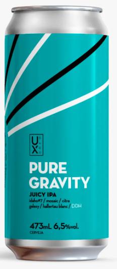 Ux Brew Pure Gravity Lata 473ml Juicy IPA