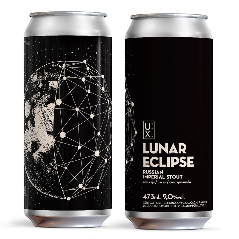 UX Brew Lunar Eclipse Russian Imperial Stout Lata 473ml