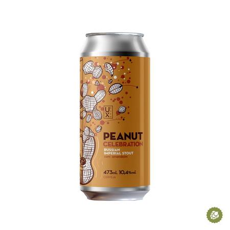 UX Peanut Celebration Lata 473ml - Russian Imperial Stout com amendoim