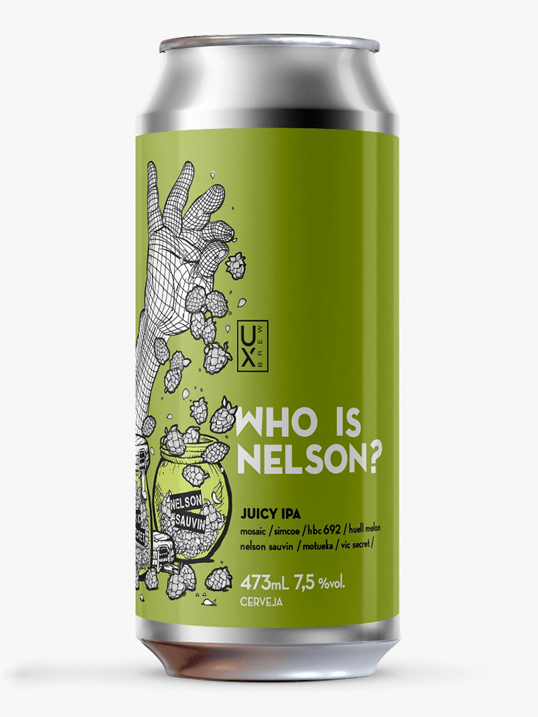 UX Who Is Nelson Lata 473ml Juicy IPA