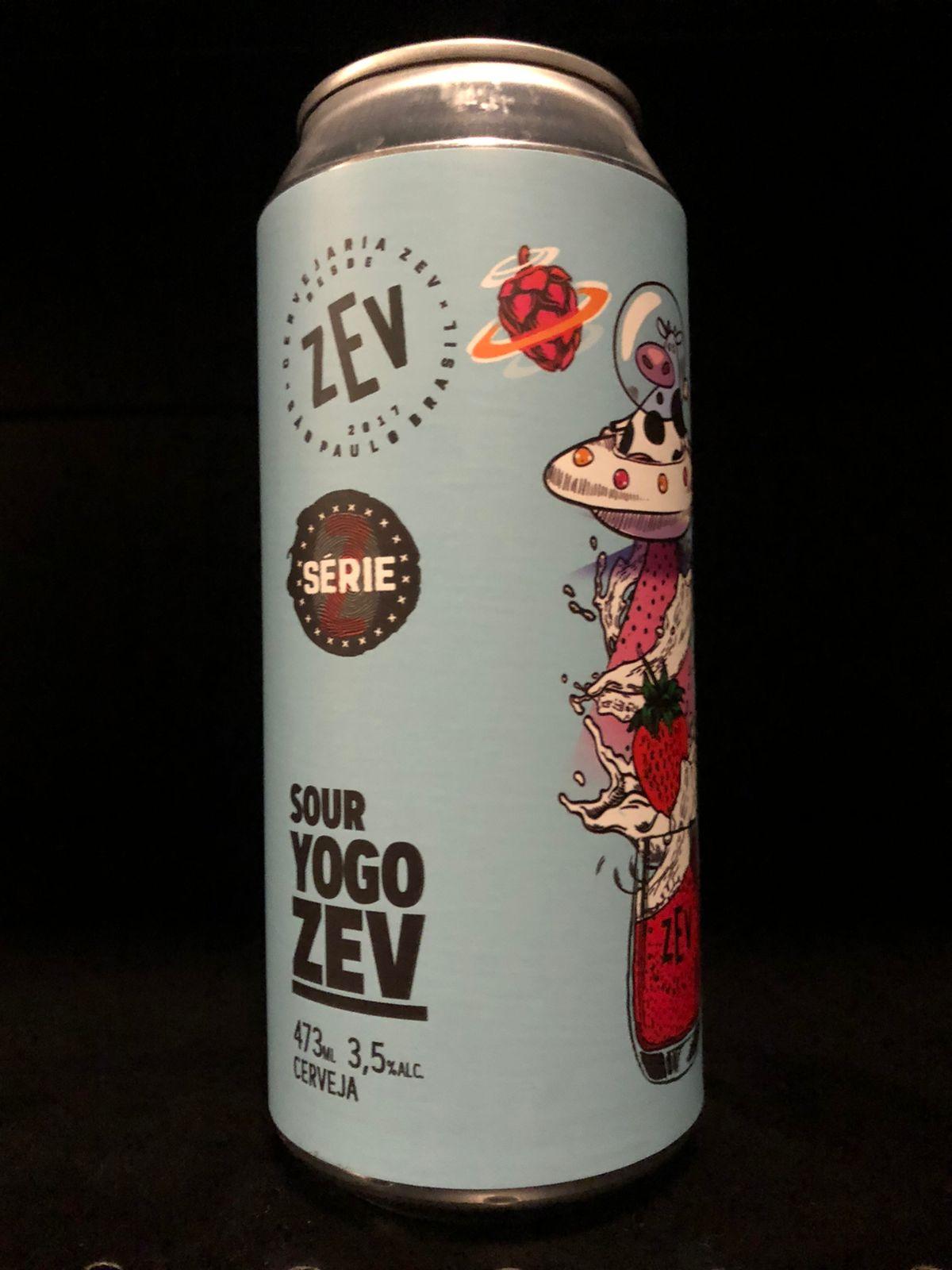 Zev Sour Yogo com morango envelhecida em barricas de carvalho - Lata 473ml