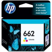 Cartucho HP 662 CZ104AB | Colorido | Original  HP Deskjet 2515, HP Deskjet 2516, HP Deskjet 3515, HP Deskjet 3516, Deskjet 2546, Deskjet 2646, HP Deskjet 4646